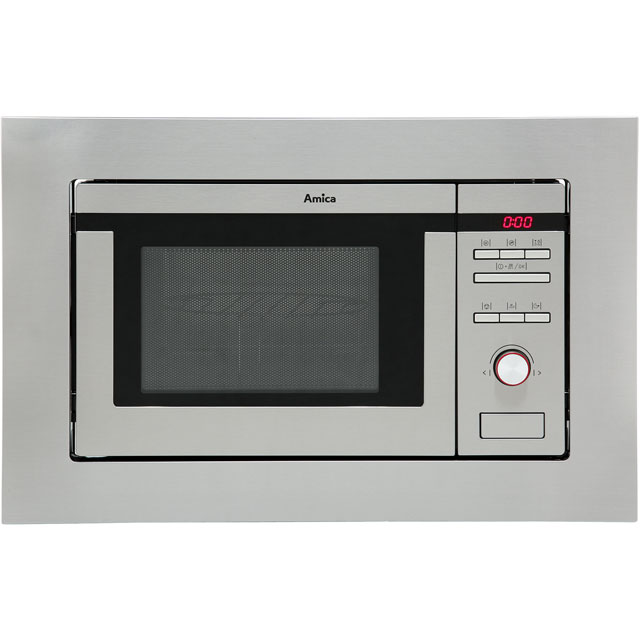 Amica AMM20G1BI Built In Microwave with Grill - Stainless Steel